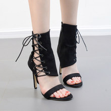 c1567731ec8 Fashion Women Party Pumps Super High Heel Shoes Sexy Snakeskin Lace-Up  Pumps Shoe Women Ankle Straps Sandals Women Ankle boots