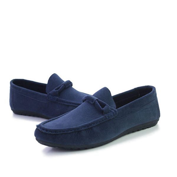 DCOS Suede Leather Men Flats New Soft Men Casual Shoes High Quality Men Loafers Flats Gommino Driving Shoes