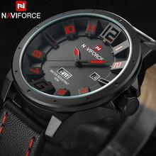 2017 Top Brand NAVIFORCE Fecha Automática Reloj de Los Hombres de Cuero de Cuarzo Analógico Reloj de Pulsera Para Hombre Impermeable Relojes Deportivos Relogio masculino