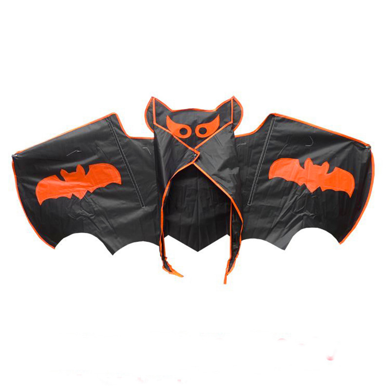 Free Shipping High Quality Children Bat Kite With Handle Line Kite Fabric Ripstop Kite Factory Toy Kite Wind Sock Family Fun