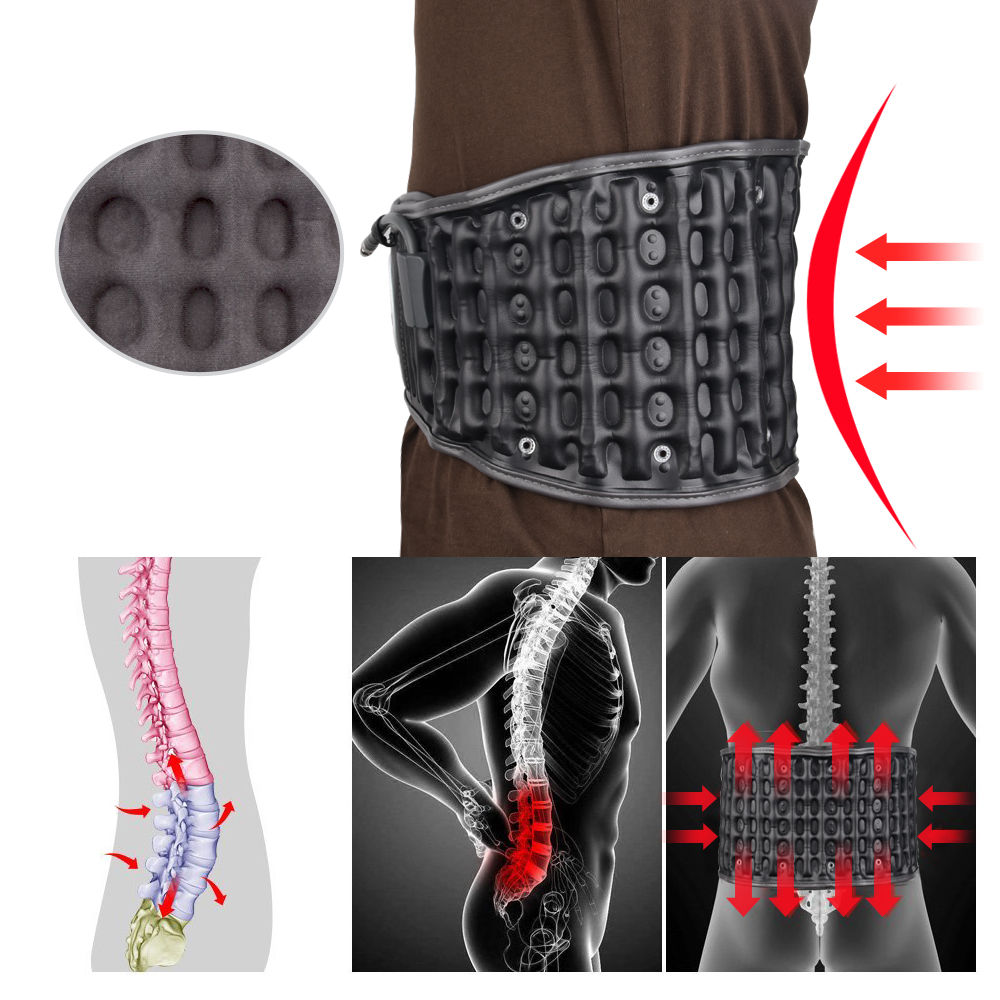 Health Care Spinal Air Decompression Back Belt Waist Brace Support Magnetic Pain Release Massager Christmas Gift for Old Parents