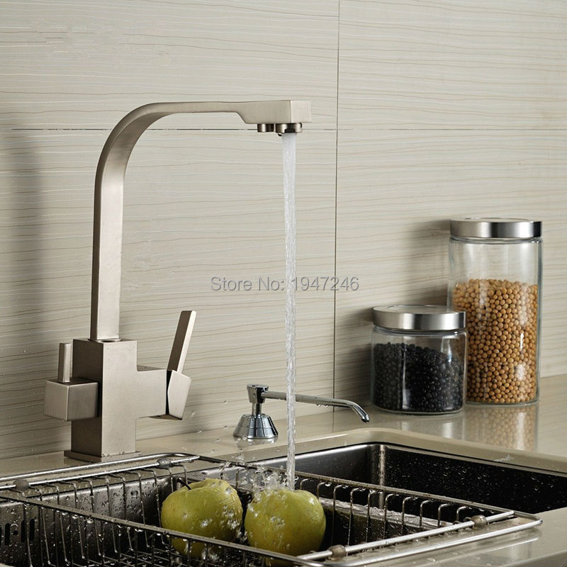 2017 Special Offer Real Dual Holder Single Hole Torneira Cozinha Filtered Water Hot/cold Water Tap 3 Way Sink Faucet Kitchen new arrival tall bathroom sink faucet mixer cold and hot kitchen tap single hole water tap kitchen faucet torneira cozinha