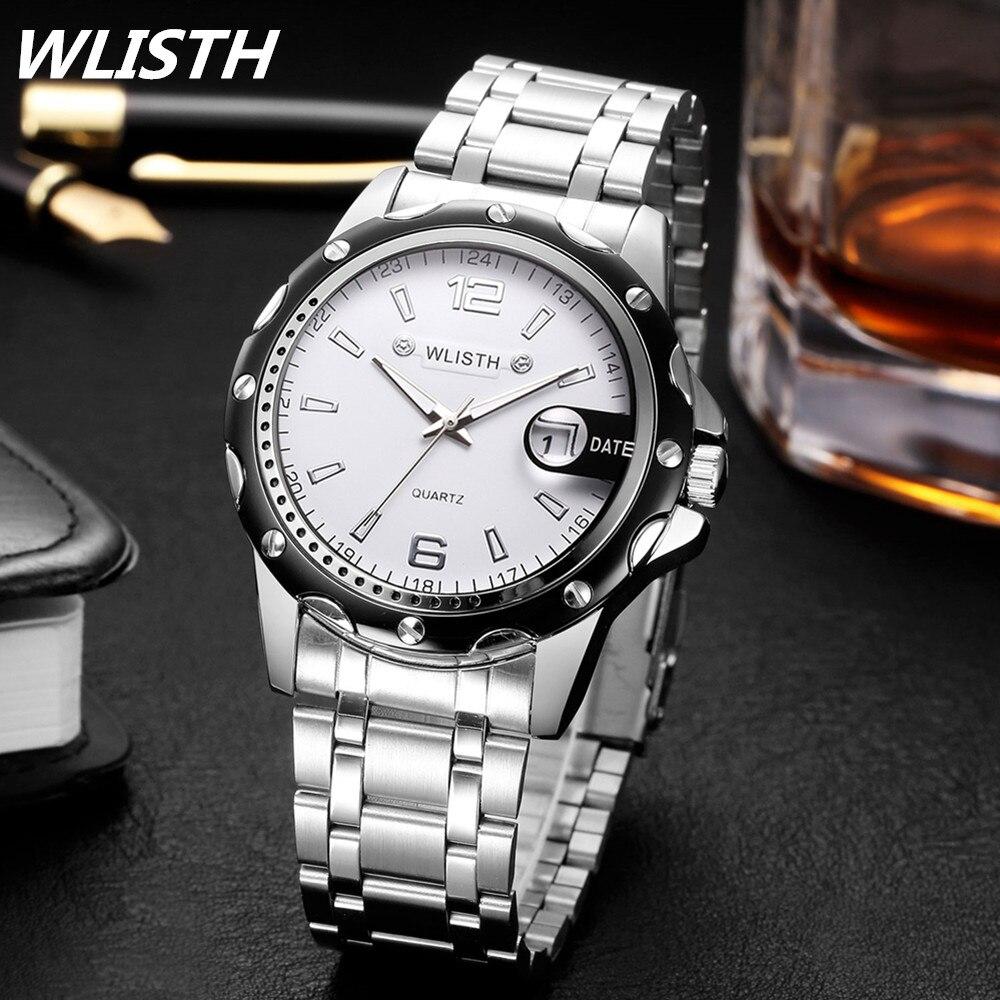 144bfd8b983 WLISTH Watch Men Watches Top Brand Luxury Men Military Wrist Watches Full  Steel Men Sports Watch Waterproof Relogio Masculino