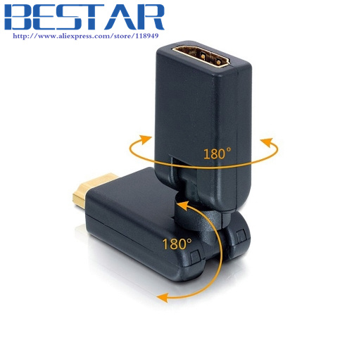 HDMI V 1.4 Male to Female 360 Degree Angled Rotating Extension Adapter hdmi