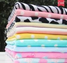 DIY font b Baby b font blanket pajamas Thickening Flannel Velvet Fabrics tissue felt bed sheet