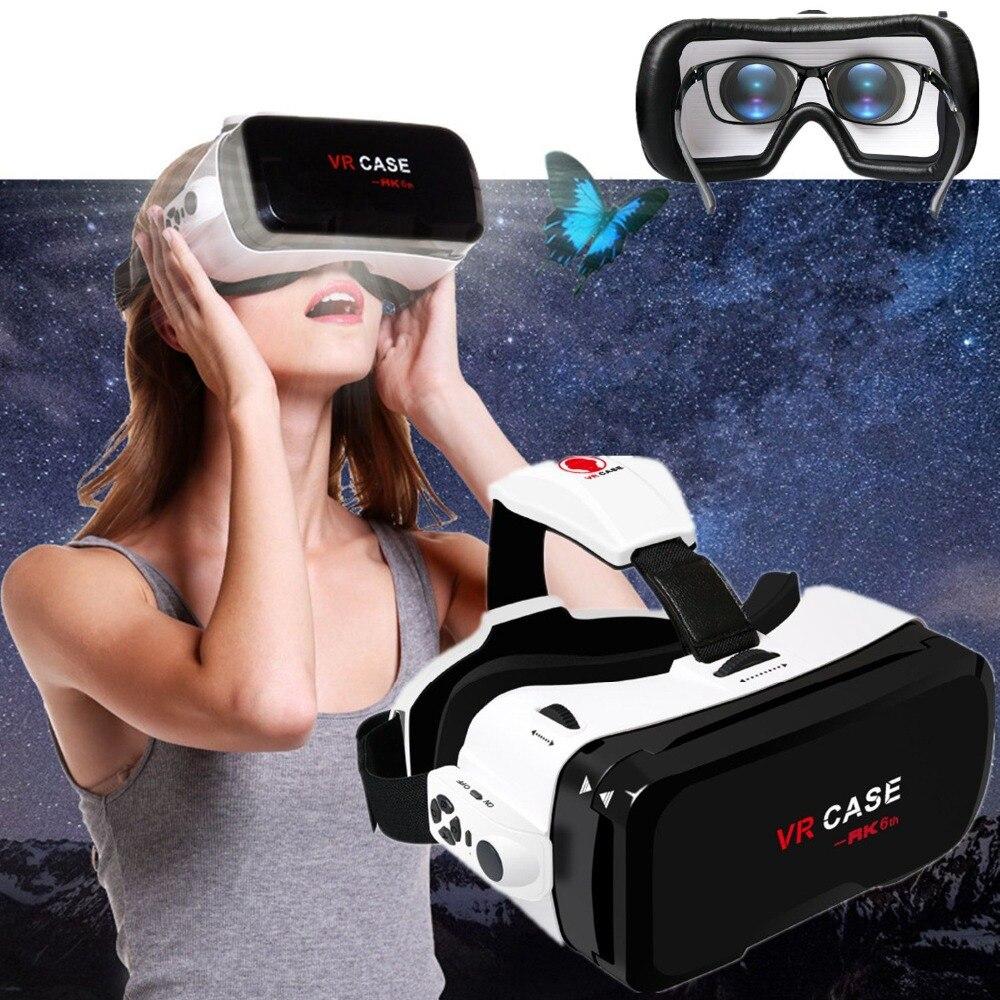 3D yeux VR casque VR boîtier 6.0 avec Bluetooth réalité virtuelle lunettes immersif 3D pour iphone amsung Galaxy SONY Xperia Huawei