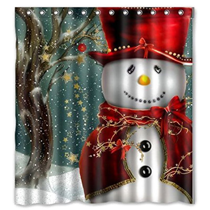 New Snowman Shower Curtain Merry Christmas Sleepy Snowman Pattern  Waterproof Bathroom Curtain Bath Curtain China. Compare Prices on Bathroom Curtain Patterns  Online Shopping Buy