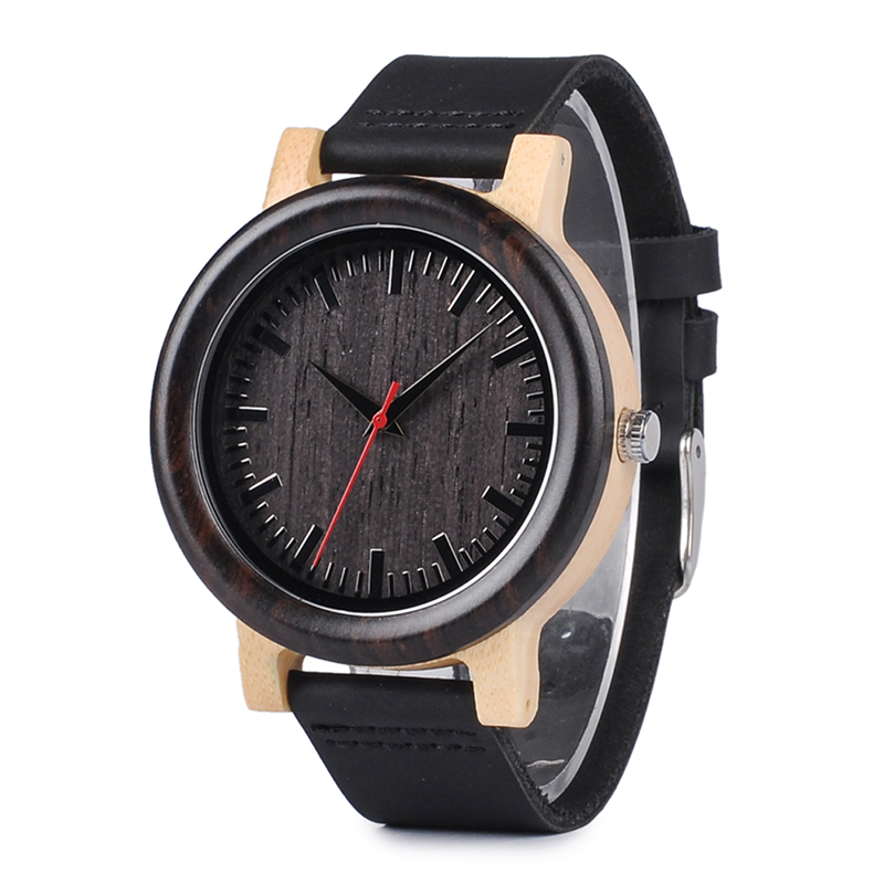 2017 Top Brand BOBO BIRD Watches Men Watch Wooden Genuine Leather Band Wristwatch as Gift relogios masculinos B-M13 simple fashion hand made wooden design wristwatch 2 colors rectangle dial genuine leather band casual men women watch best gift