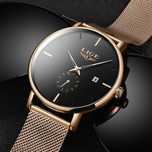 2019 LIGE Top Brand Luxury Watches Men Stainless Steel Ultra