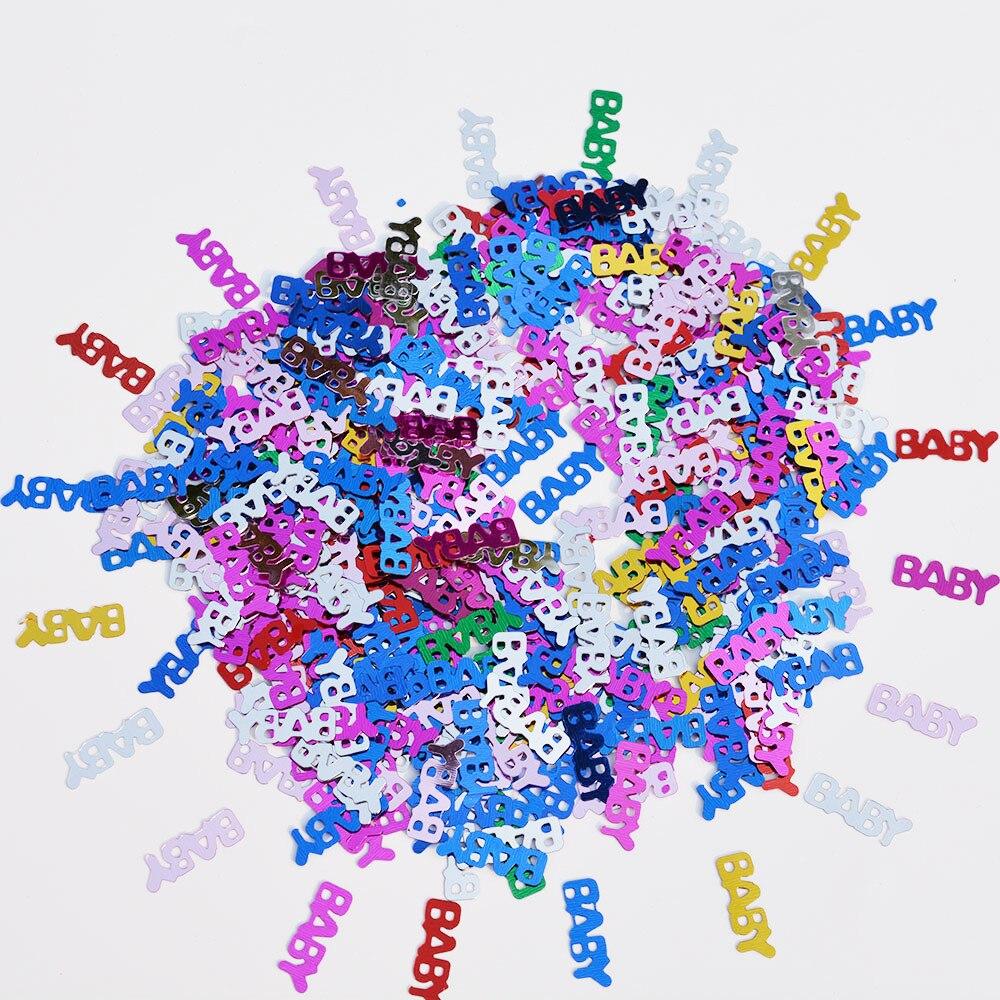 1800 Stks Nieuwe Baby Party Confetti Jongen/meisje Kleurrijke Scatter Top Baby Douche Verjaardag Decoraties