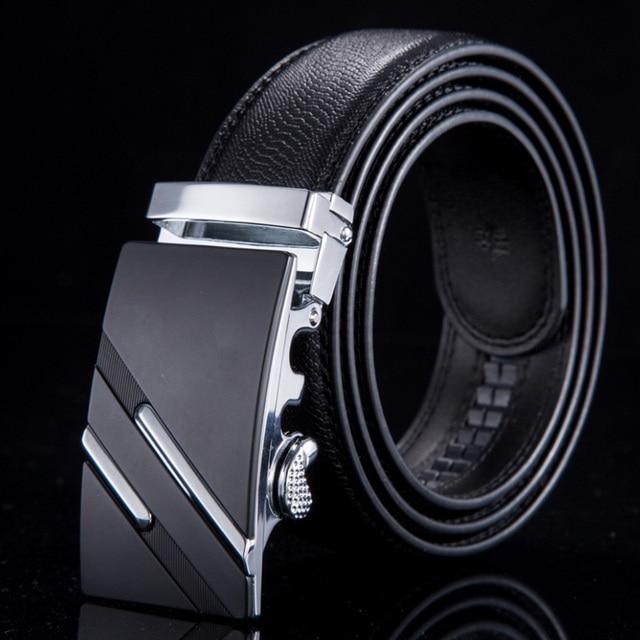 2016 Fashion Designer Belts Men Sliding Buckle Ratchet Belt Automatic Fashion Man WN003