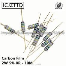 10 pcs 2 2 w 5% W Filme De Carbono Resistor 5% 360 K 390 K 430 K 470 K 510 K 560 K 620 K 680 K 750 K 820 K 910 K 1 M 1.2 M 1.5 M 1.8 M 2 M 2.2 M 2.4 M