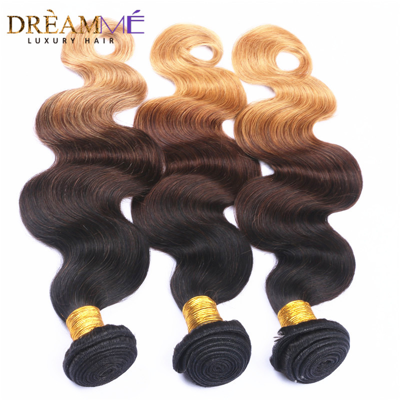 Dreaming Queen Hair Body Wave Ombre Brasilian Human Non Remy Hair 3 - Menneskehår (sort) - Foto 2