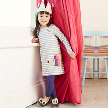 Baby Girl Dress with Animal Applique 2019 Brand Autumn Princess Dress for Girls Clothing Robe Enfant Kids Clothes robe enfant toddler girl dresses with cat print kids summer dress girls clothes 2017 brand princess dress with sashes 2colors