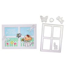 Julyarts Scrapbooking Metal Cutting Dies Butterfly Dragonfly Insect Candle Window Frame DIY Embossing Punch Knife