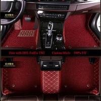 OLPAY Mat Leathe Doubler Car Floor Mats For Mercedes Benz R class E class GLE GLA GLC Custom Double Layer Foot Pad Carpet Cover