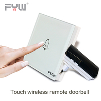 Luxury Crystal Glass Wall Switch Touch Switch Normal 1 Gang 1 Way Switch Wireless Remote Control Door Bell