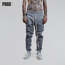 FORGIVENESS C580 New Men's Fitness Long Pants Straight Men Casual Baggy Jogger Trousers Soft Cotton Solid Fitted Bottoms Pants