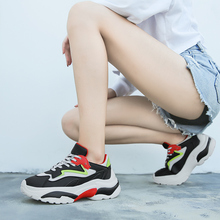 New High Quality Increase 6cm Women's Shoes Platform Sneakers Basket Femme Fashion Design Casual Tenis Feminino