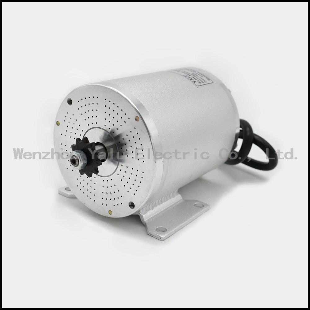 MY1020 amélioré brushless moteur BM1109 Vélo moteur 48 v 1800 w Électrique ATV vélo électrique électrique moto modifiée DC moteur