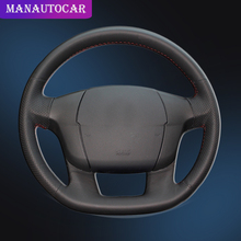 Car Braid On The Steering Wheel Cover for Citroen C4 C4L DIY Hand Sewing Auto Leather Covers Interior Accessories Car-styling