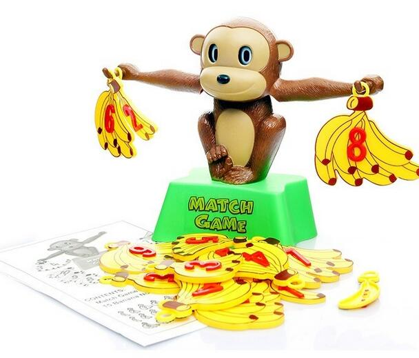 Monkey Math Balance Scale Match Game Children Baby Learning Educational Toys Interesting Arithmetic teaching aids