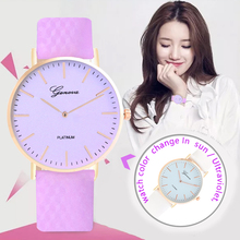Fashion design clock in direct sunlight change color sports