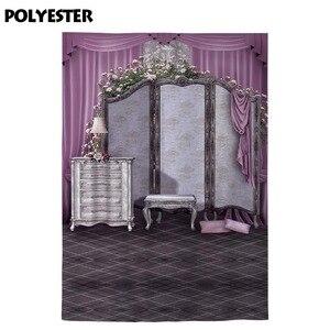Image 3 - Allenjoy Профессиональный фон для фотосъемки вешалка для одежды ювелирный шкаф розовый занавес Ретро Настольная лампа фон для фотосъемки
