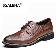 Men Imitate Crocodile Leather Dress Shoes Male Pointed Toe Wedding Office Formal Shoes Business Shoes For Men AA50142