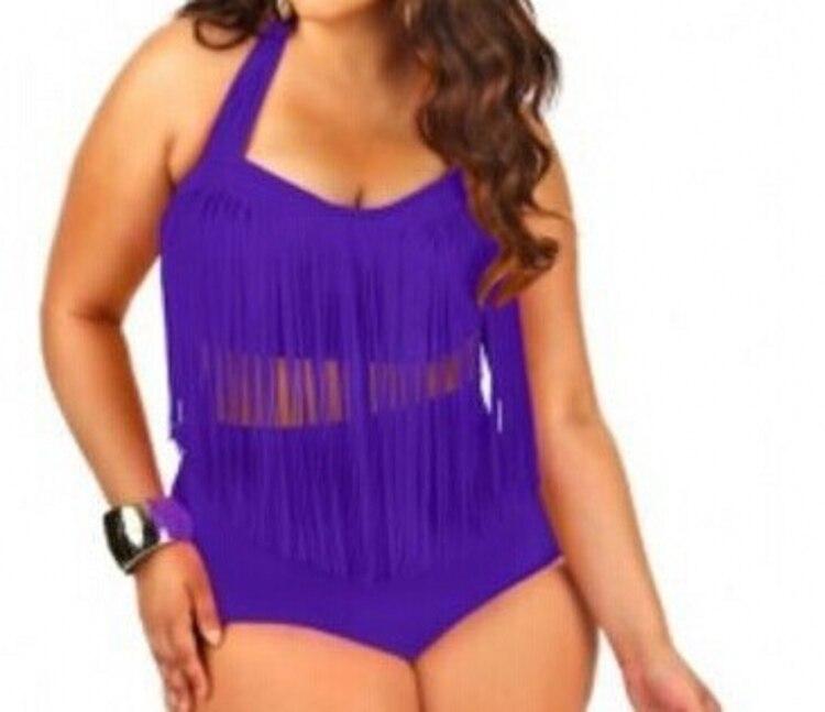 300ade1e8c ... Trendy Plus Size Swimsuits For Fat People Bandage Bathing Suits For Large  Women L XL XXL XXXL. white fringe bikini red fringe bikini purple fringe ...