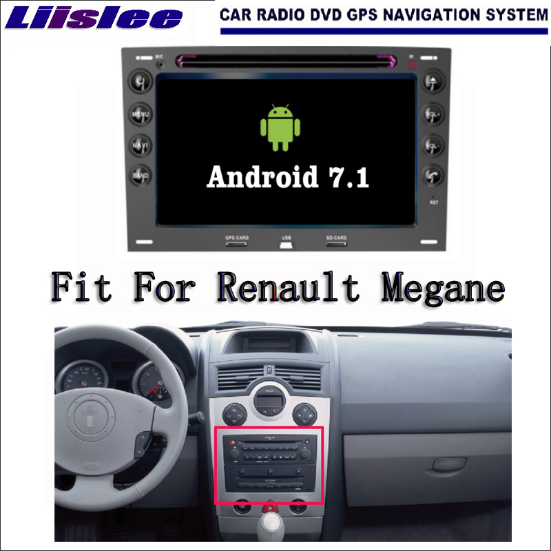 Liislee Android 7.1 2G RAM For Renault <font><b>Megane</b></font> 2003~2010 Car Radio Audio Video Multimedia <font><b>DVD</b></font> Player WIFI DVR <font><b>GPS</b></font> Navi Navigation image