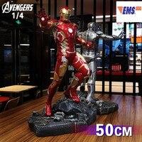50CM Avengers:Infinity War Superhero Tony Stark Iron Man MK43 Resin Statue Limited Action Figure Model X343