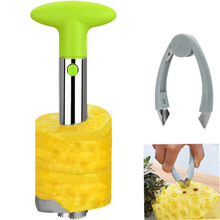2PCs Stainless Steel Pineapple Slicer Muti-function Eye Remover Peeler Corer Zester Kitchen Tools