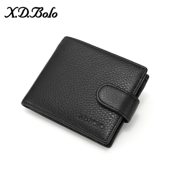 XDBOLO Leather Wallet Male Multi Card Wallet for Men Genuine Leather Men's Wallet Fashion Bifold Purse High Capacity Wholesale thinkthendo vintage men crazy horse leather bifold wallet genuine leather wallet card holder