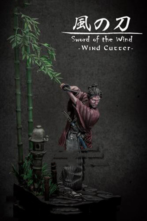 1/24 75mm Sword Of The Wind Samurai Windcutter 75mm   Toy Resin Model Miniature Kit Unassembly Unpainted