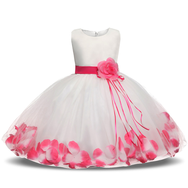 TiaoBug Infant Baby Flower Girl Dress Princess Birthday Party Baptism Gown Dresses