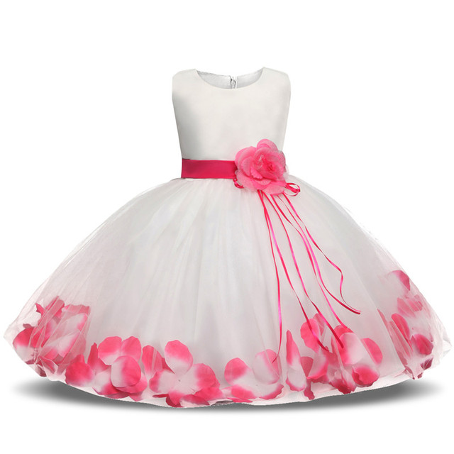 0d3d3294e6ad Newborn Baby Girl Christening Gown Tulle Infant Petals Bridal ...