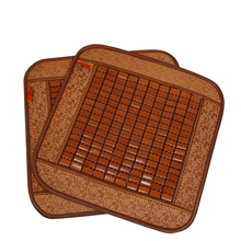 Summer Cool Bamboo Chip Car Seat Cover Small Square Pad Mat Anti-slip Cushion Office Single