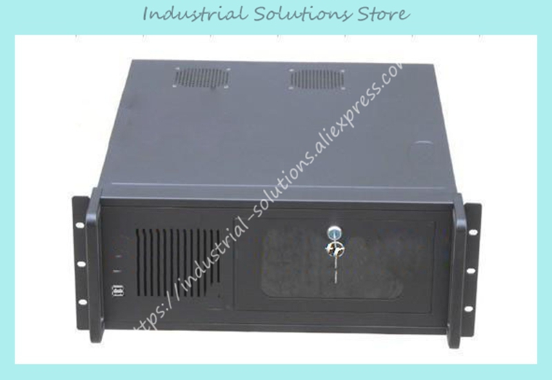 New 4U Industrial Computer Case 4U Server Computer Case 8 Hard Drive 2 Bit 4U450ATX Black 7 Building