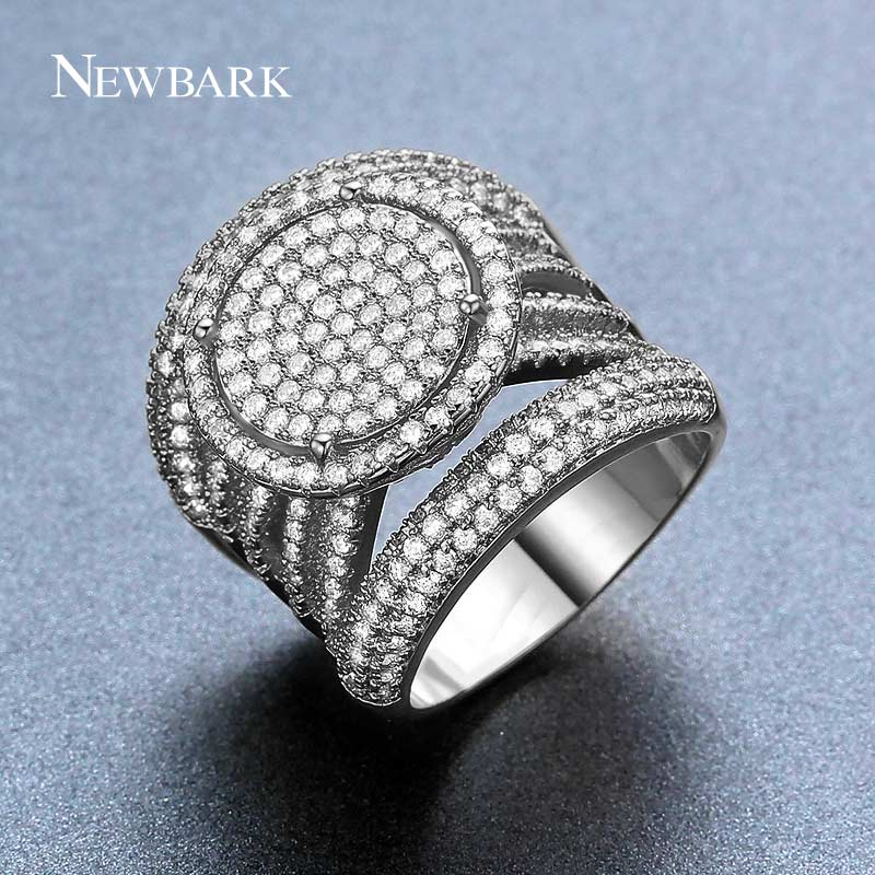 NEWBARK New Arrival Exquisite Unique Jewelry Ring Victoria Antique High Quality White Gold Plated Sun Round