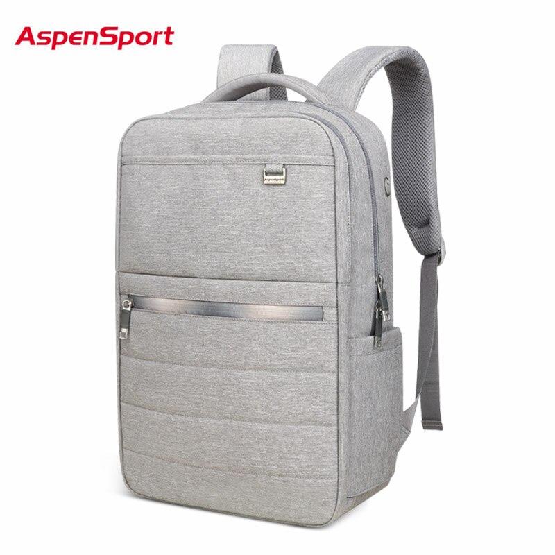 AspenSport Business Backpacks For Men School Bags Male Laptop fit 15 6 17 Inch Notebook Computer