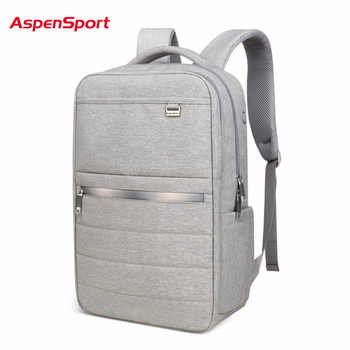 AspenSport Business Backpacks For Men School Bags Male Laptop fit 15.6-17 Inch Notebook Computer Travel for Boy School bags Grey - DISCOUNT ITEM  0% OFF All Category