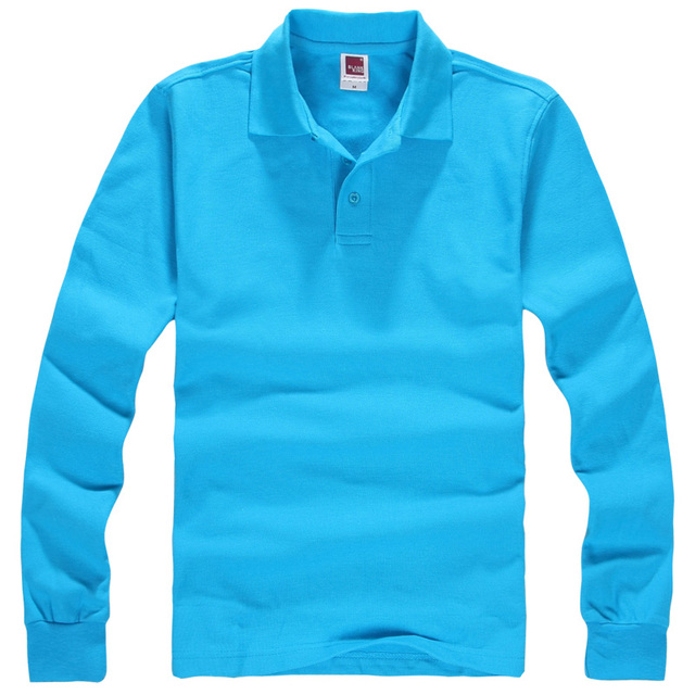 Solid Cotton Casual Outwear Polo shirt Men Turn Down Collar Long Sleeve High Quality Polos Plus Size XXXL Tees Tops Father Gift
