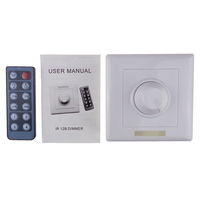 PWM IR LED Dimmer 12V 24V 8A Brightness Adjustable With 12 Button Wireless Remote Control For