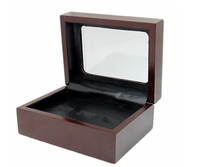 Solid Wooden Boxes 3 Holes Rings Position Championship Rings Beautiful Ring Wooden Boxes With Exquisite Appearance