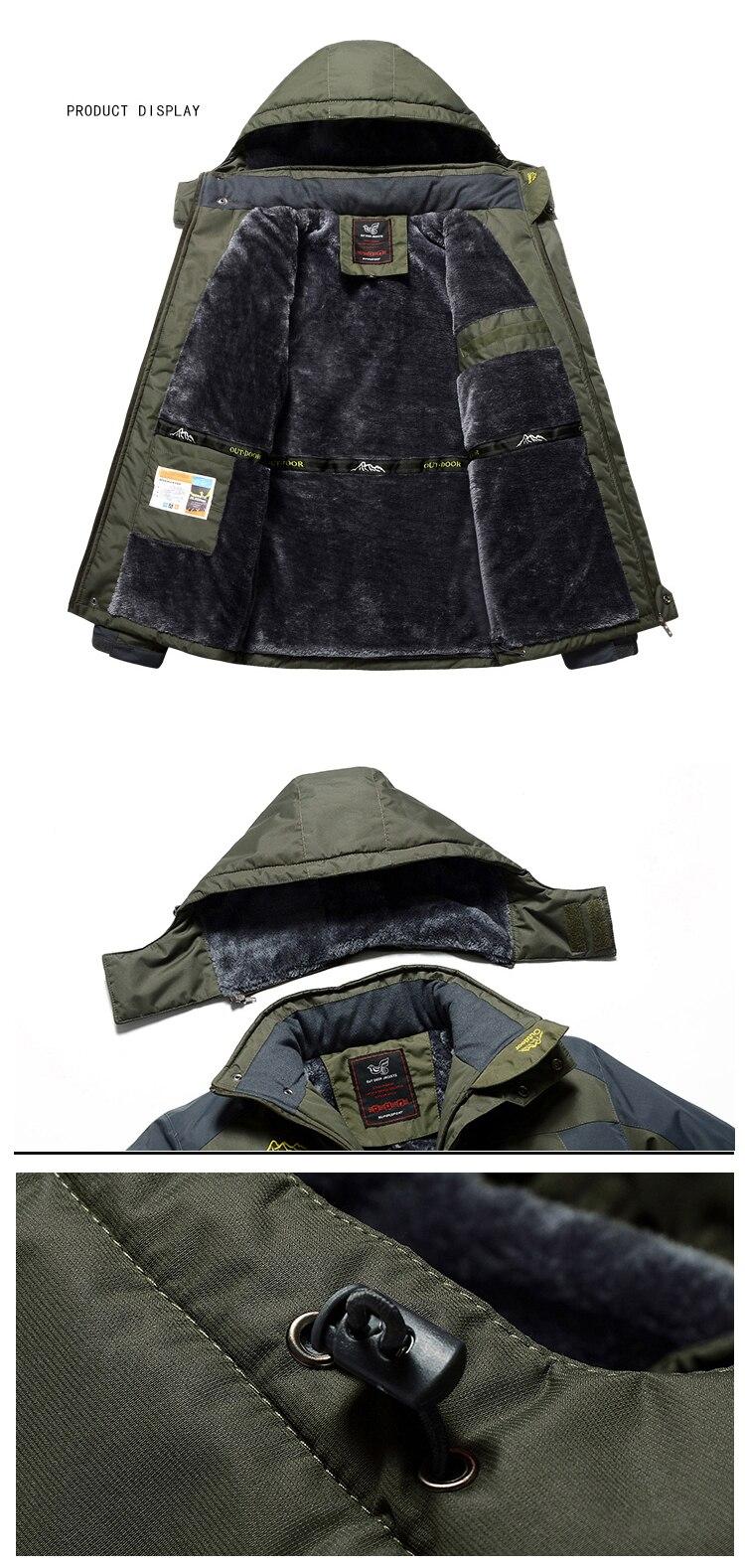 Winter Fleece Hiking Jackets Coat (13)