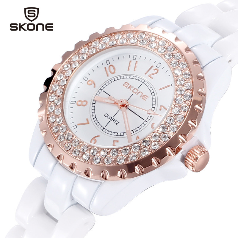 SKONE women Watches women top famous Brand Luxury Casual Quartz Watch female Ladies watches Women Wristwatches relogio feminino one head rotary belgian waffle maker machine for commercial restaurant machinery wholesale