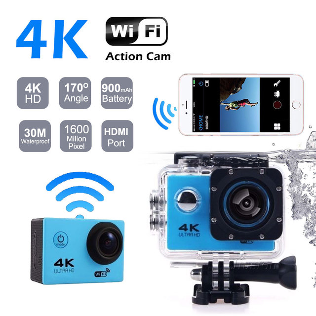 4K Wifi Mini Camera HD 1080P Action Sports Camcorder 30M Waterproof 2.0' Screen Video Audrio Recorder Outdoor Helmet Micro Cam