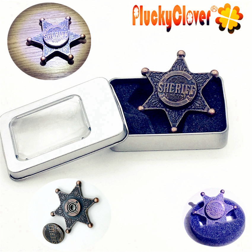 Stress Relief Toy Toys & Hobbies Sheriff Hand Spinner Retro Hand Spinner Desk Finger Spin Edc Sensory Alloy Toy Anxiety Stress Relief Toys Captain Fidget Spinner