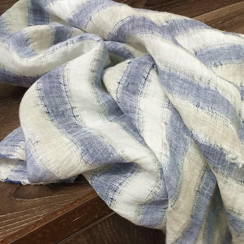 stripe yarn dyed linen fabric for linen garment